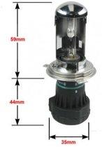 H4 Bi-Xenon 6000k vervangingslamp +50% Xenonlamp.nl Private Label