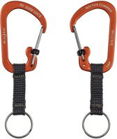 NITE IZE SlideLock Key Ring Aluminum - Orange
