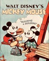 Disney - Canvas Schilderij - Mickey Building a Building - 40x50 cm