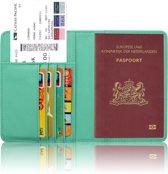 Paspoorthouder / Paspoorthoesje / Passport Wallet - V1 - Mintgroen