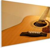 Schuine kijk op een akoestische gitaar Plexiglas 90x60 cm - Foto print op Glas (Plexiglas wanddecoratie)