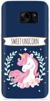 Galaxy S7 Edge Hoesje Sweet Unicorn
