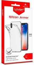 Livon  Motorola Moto E5 Play (XT1920/XT1921) Silicon Armor  Hoesje - Dun & Transparant
