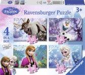 Ravensburger Disney Frozen. Vier puzzels -12+16+20+24 stukjes - kinderpuzzel