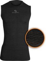 Brubeck Sportondergoed Ondershirt met 3D Technology - Singlet - Zwart - L