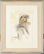 Telpakket kit Dame met lila bloem  - Lanarte - PN-0008013
