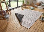 Design binnen & buiten vloerkleed Lily - zwart/crème 160x230 cm