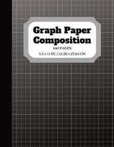 Graph Paper Composition: Notebook Graph paper pages and White Paper - 5x5 Composition Notebook - Quad Ruled - 5 squares per inch - 100 pages -