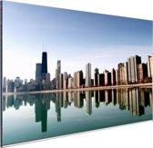Chicago skyline Aluminium 30x20 cm - klein - Foto print op Aluminium (metaal wanddecoratie)