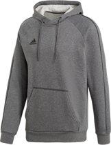 adidas Core 18 Hooded  Sporttrui casual - Maat L  - Mannen - grijs