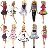 10 sets barbiekleding - Jurkjes, rokjes, topjes, trui en broek - Fashion set voor modepop zoals Barbie