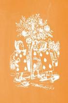Alice in Wonderland Pastel Chalkboard Journal - Painting the Roses Red (Orange)