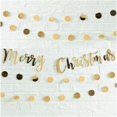 Gold Merry Christmas Bunting - Metallic Star