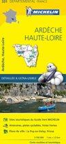 Ardeche / haute - loire 11331 carte ' local ' ( France ) michelin kaart