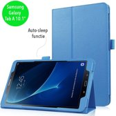 Stand flip sleepcover hoes - Samsung Galaxy Tab A 10.1 inch (2016) - lichtblauw