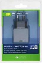 GP USB Wandlader WA51 met 2 poorten 2.4 A + 3 A 150WA51C1