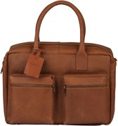 Burkely Schoudertas westernbag school / werk tas split hunter cognac