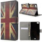 Uk vlag print wallet case hoesje Huawei G Play Mini