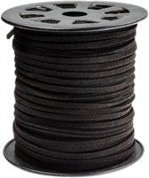 Faux Suede Veter (3 mm) Black (91 Meter)