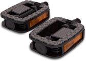 Lynx Platformpedaal Stadsfiets Supergrip 9/16 Inch Zwart Set