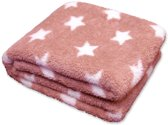 Unique Living Stars - Fleece - Plaid - 150x200 cm - Oud Roze