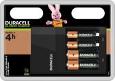 Duracell Batterijoplader CEF14 - Hi-Speed - Inclusief 2 AA + 2 AAA batterijen