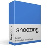 Snoozing - Katoen - Hoeslaken - Lits-jumeaux - 180x220 cm - Meermin