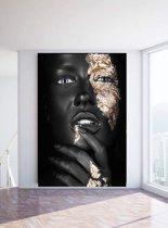Noir Goldest | Plexiglas inclusief Dibond | Luxe Wanddecoratie
