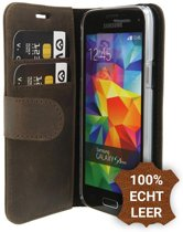 Valenta - Booklet Classic Luxe - Samsung Galaxy S5 Mini - Vintage Brown