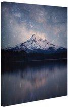 Mount Hood Noord-Amerika Canvas 20x30 cm - klein - Foto print op Canvas schilderij (Wanddecoratie woonkamer / slaapkamer)