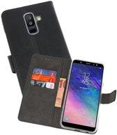 Wallet Cases Hoesje Galaxy A6 Plus (2018) Zwart