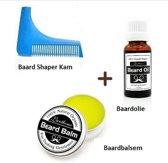 Luxe Baardverzorging Set Met Baardkam - Complete Beard Grooming Starter Kit Met Baardgroei Baardolie & Baardbalsem / Baardwax