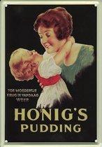 Honig's reclame Pudding reclamebord 20x30 cm