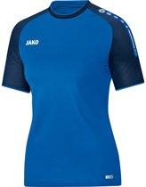 Jako Champ Dames T-Shirt - Voetbalshirts  - blauw - 42