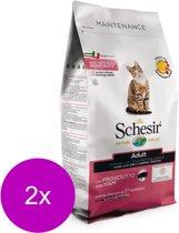 Schesir Cat Dry Adult Ham - Kattenvoer - 2 x 1.5 kg Monoprotein