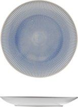 Cosy & Trendy Santiago Blue Plat Bord - Rond - Ø 25 cm x 3 cm - 2 Dessins - Set-2
