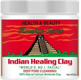 Roushun Secret Indian Healing Clay - Unisex - 100% natuurlijke calcium bentoniet klei gezichtsmasker - deep pore cleansing - Aztec clay