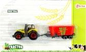 Toi-toys Tractor Met Aanhanger 16 Cm Geel/rood