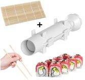 Sushi Maker Kit | Sushi Bazooka + Bamboe Mat | Wit | Sushi All-in-one Starter Kit | Sushi Maker | Sushi Roller | Sushi Roll Maker Set
