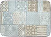 Kindertapijt patchwork blauw - 130 x 180 cm