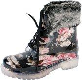 Gevavi Boots Hind gevoerde meisjes en dameslaars pvc zwart 31