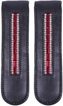 QHP Laarzenclip Brittany - Black/Red - Onesize