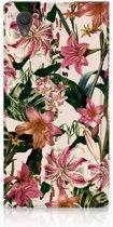 Sony Xperia L1 Uniek Standcase Hoesje Flowers