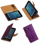 PU Leder Lila Samsung Galaxy Grand Prime Book/Wallet Case/Cover