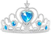 Elsa kroon / tiara blauw bij Elsa of Anna Frozen Prinsessen jurk