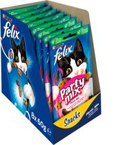FELIX Party Mix Snacks - Picnic Mix - Kattensnack - 8 x 60 g