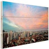 Wolken boven Sao Paulo Hout 60x40 cm - Foto print op Hout (Wanddecoratie)