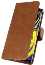 Wicked Narwal | bookstyle / book case/ wallet case Wallet Cases Hoes voor Samsung Galaxy Note 9 Bruin