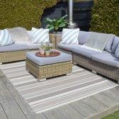 Buiten vloerkleed Essenza Stripe 160x230 - Taupe