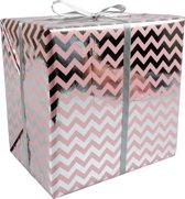 LOVLY® Cadeaupapier, 30cm, 200m, 60gr/m², Chevron, roze